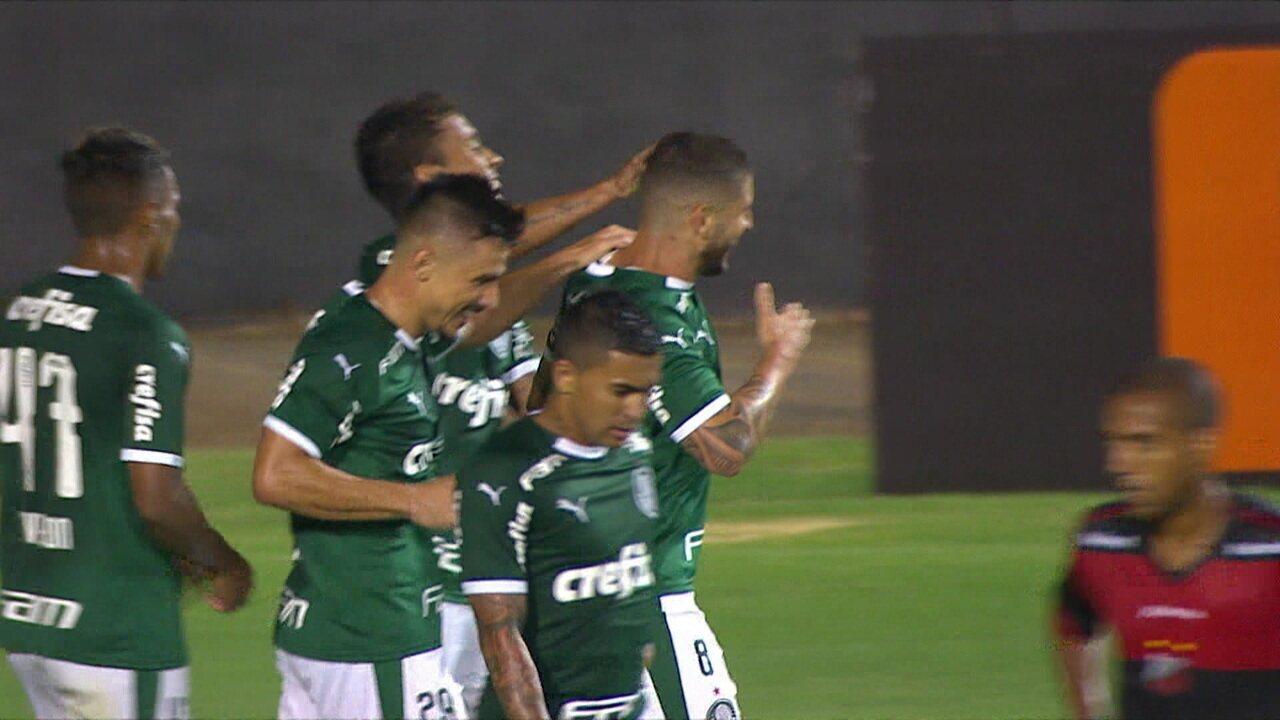 Gols de Ituano 0 x 4 Palmeiras pela 1ª rodada do Campeonato Paulista