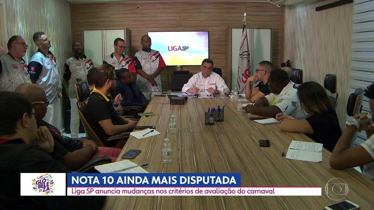 Liga anuncia mudança nas notas das escolas de samba