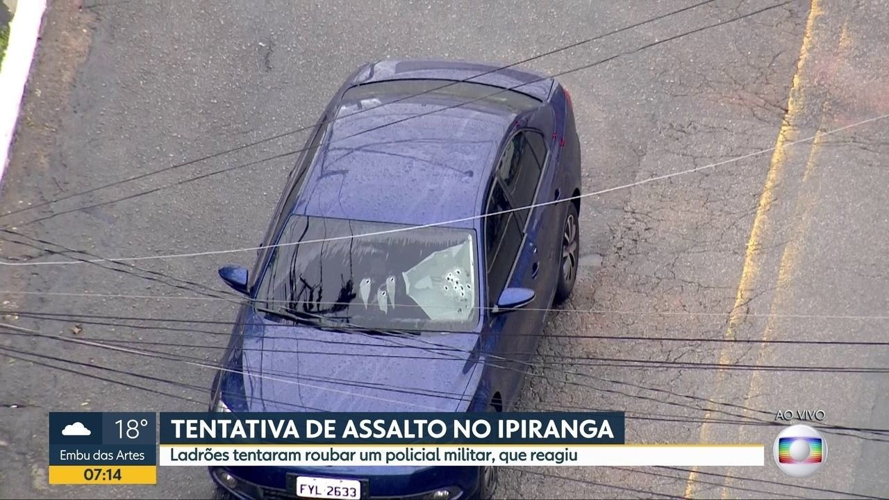 Tentativa de assalto termina em tiroteio no Ipiranga