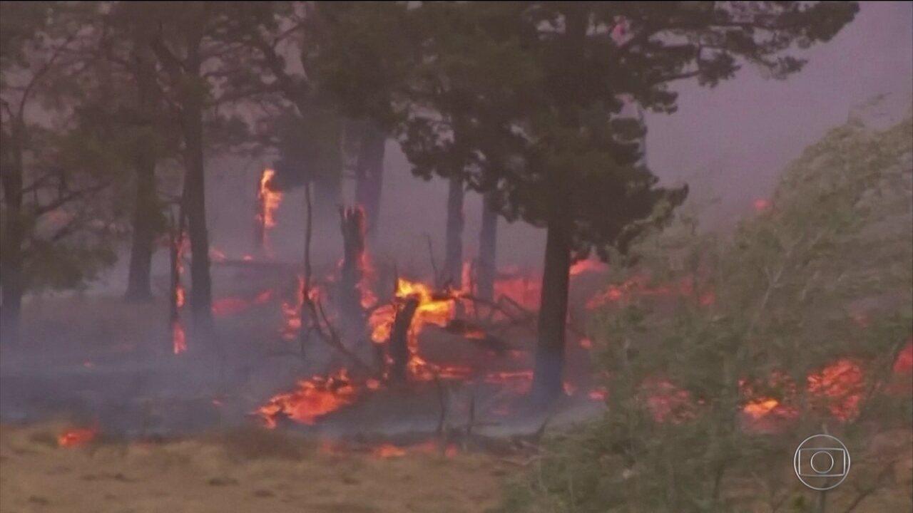Avião pega fogo e cai enquanto tentava apagar incêndio na Austrália