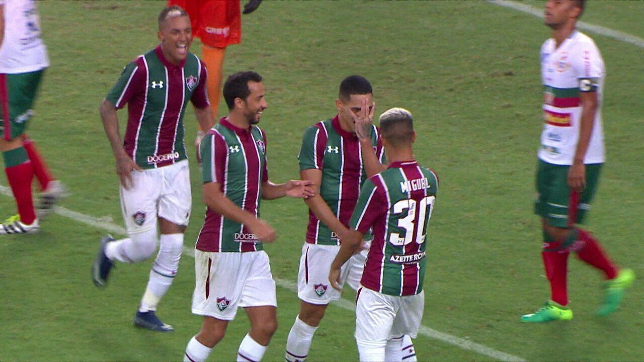 Gol do Fluminense! Após linda jogada, Miguel toca para Gilberto ampliar, aos 11' do 2º tempo