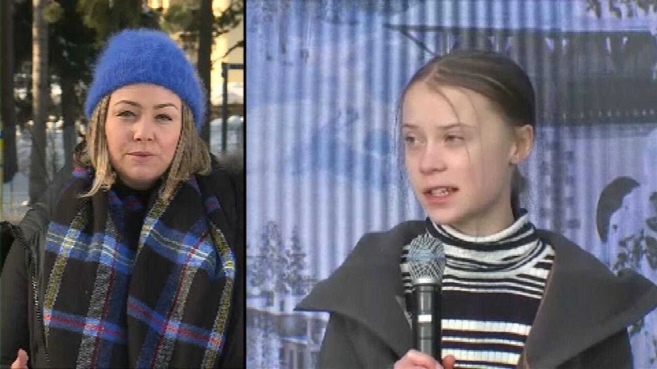 Greta Thunberg critica falta de ação ambiental de líderes e investidores em Davos