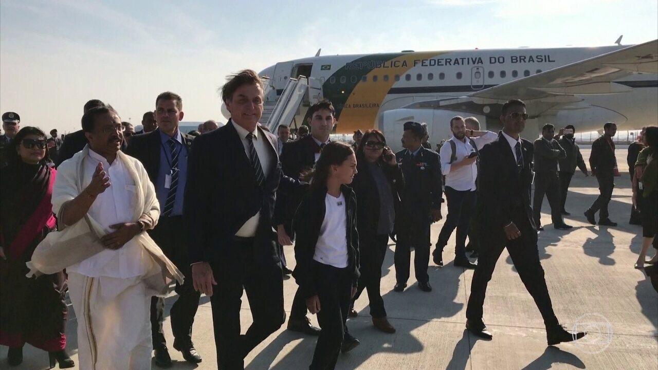 Bolsonaro vai à Índia com agenda cheia de compromissos, incluindo acordos bilaterais