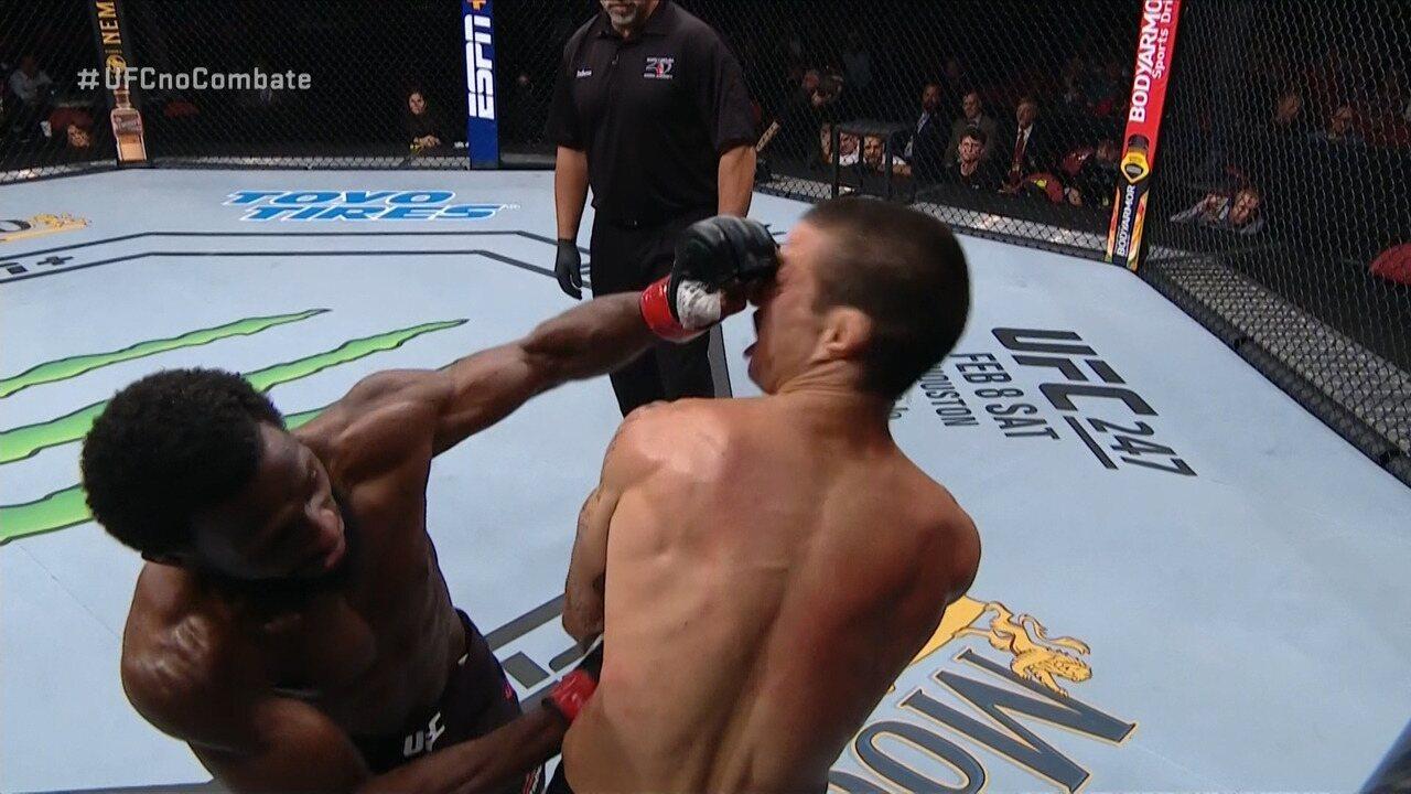 Melhores Momentos de Montel Jackson x Felipe Cabocão no UFC Raleigh, no dia 25/01/2020.