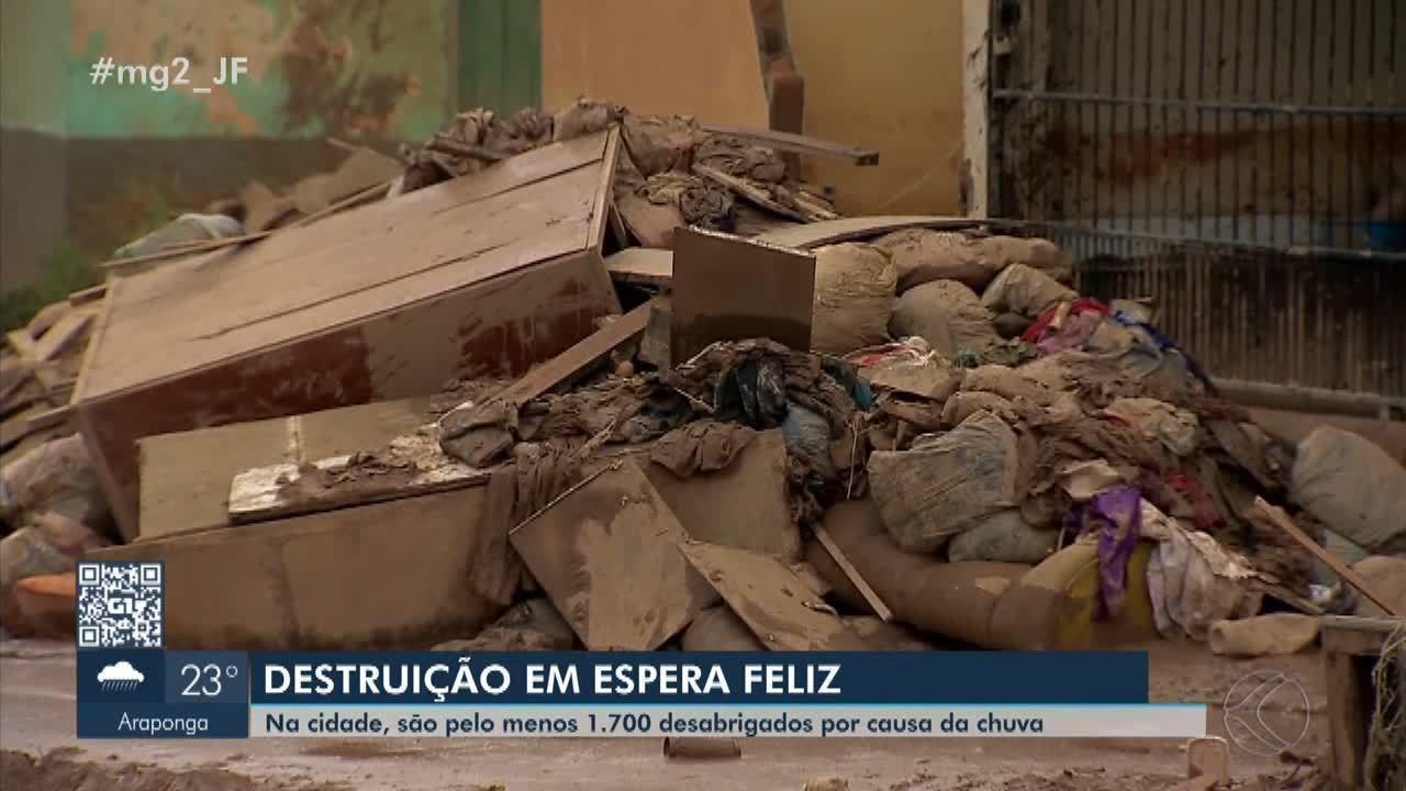 Mais de 1.500 pessoas estão desabrigadas em Espera Feliz