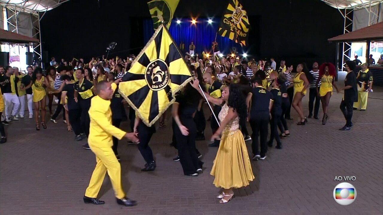 São Clemente dá uma prévia do que vai rolar no desfile do carnaval 2020
