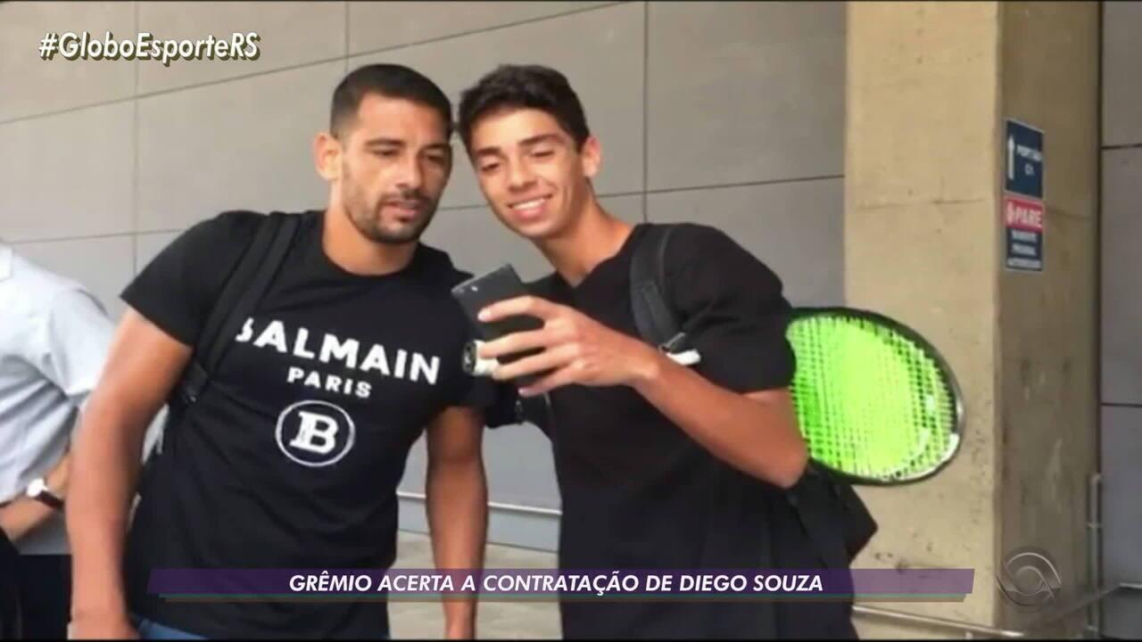 Grêmio anuncia Diego Souza como a 7ª contratação de 2020