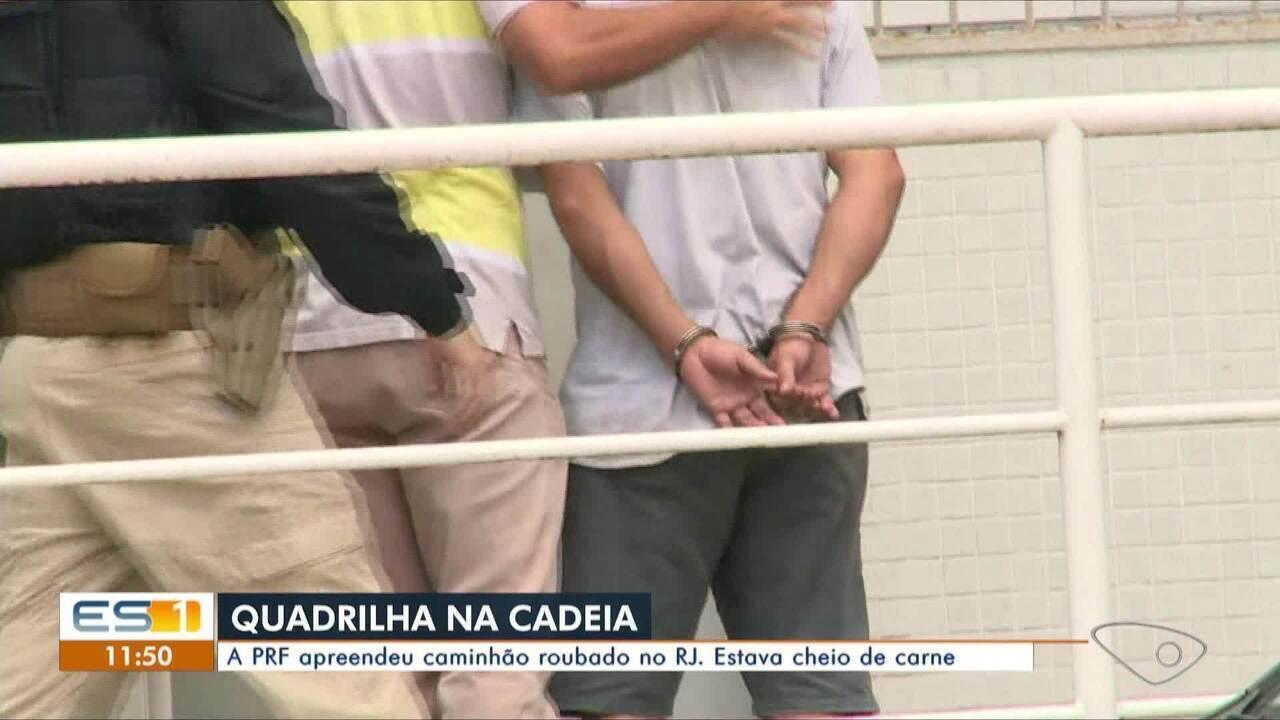 Caminhão roubado no Rio de Janeiro é apreendido pela Polícia Rodoviária Federal no ES