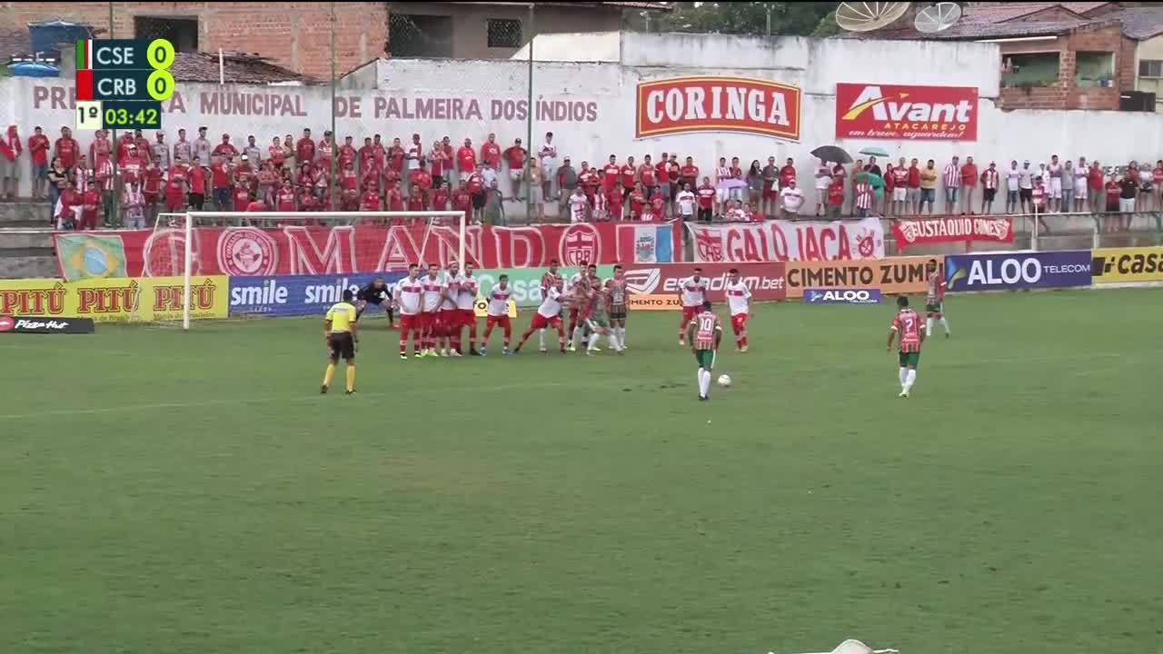 Assista aos gols de CSE 1 x 1 CRB, pela segunda rodada do Campeonato Alagoano
