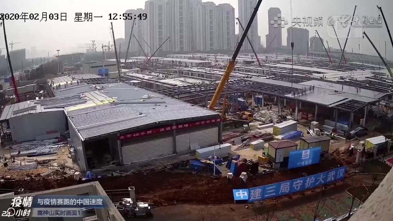Vídeo mostra construção de hospital na China em 10 dias