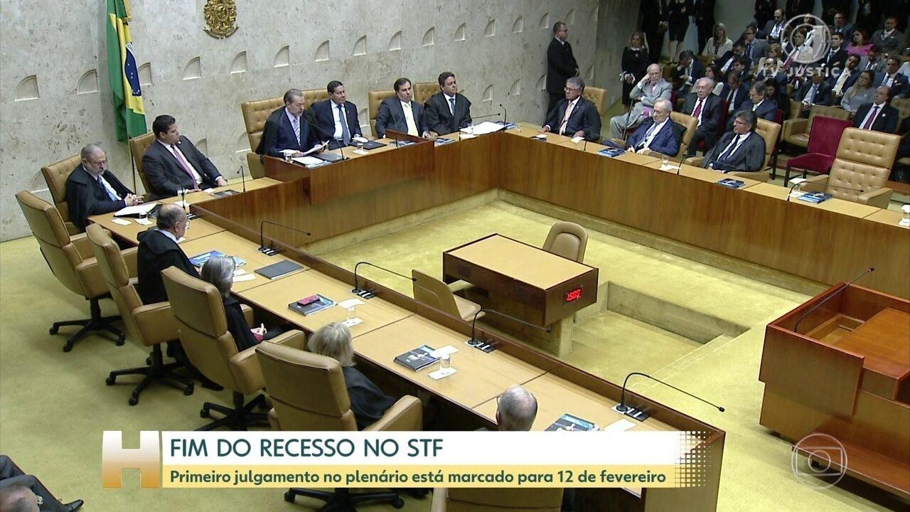 STF encerra o recesso e marca primeira sessão do plenário para 12 de fevereiro