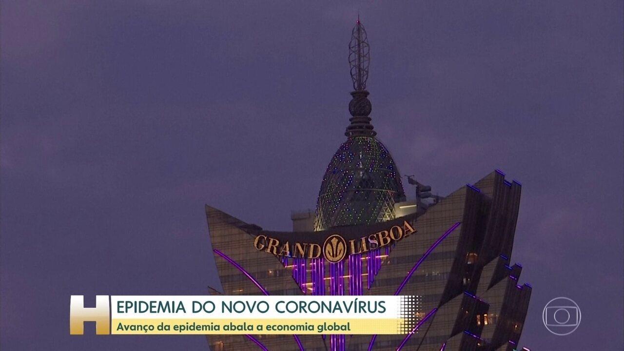 Avanço do coronavírus assusta a economia global