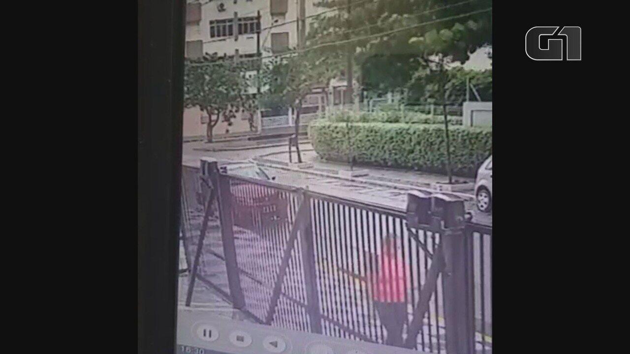 Vídeo mostra advogada momentos antes da tentativa de assalto em Guarujá, SP