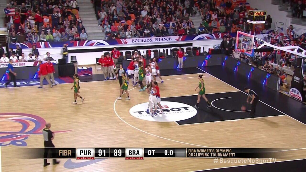 Melhores momentos de Porto Rico 91 x 89 Brasil pelo pré-olímpico de basquete feminino