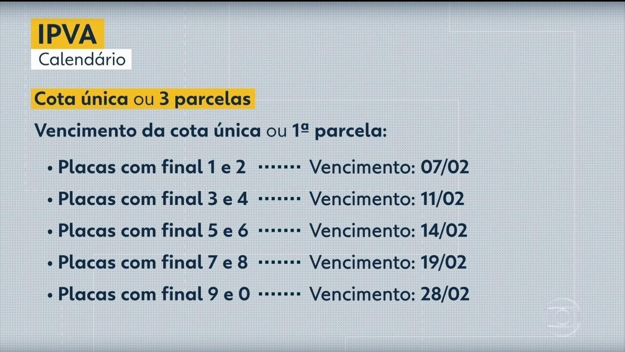 Veja o calendário do IPVA 2020 em Pernambuco