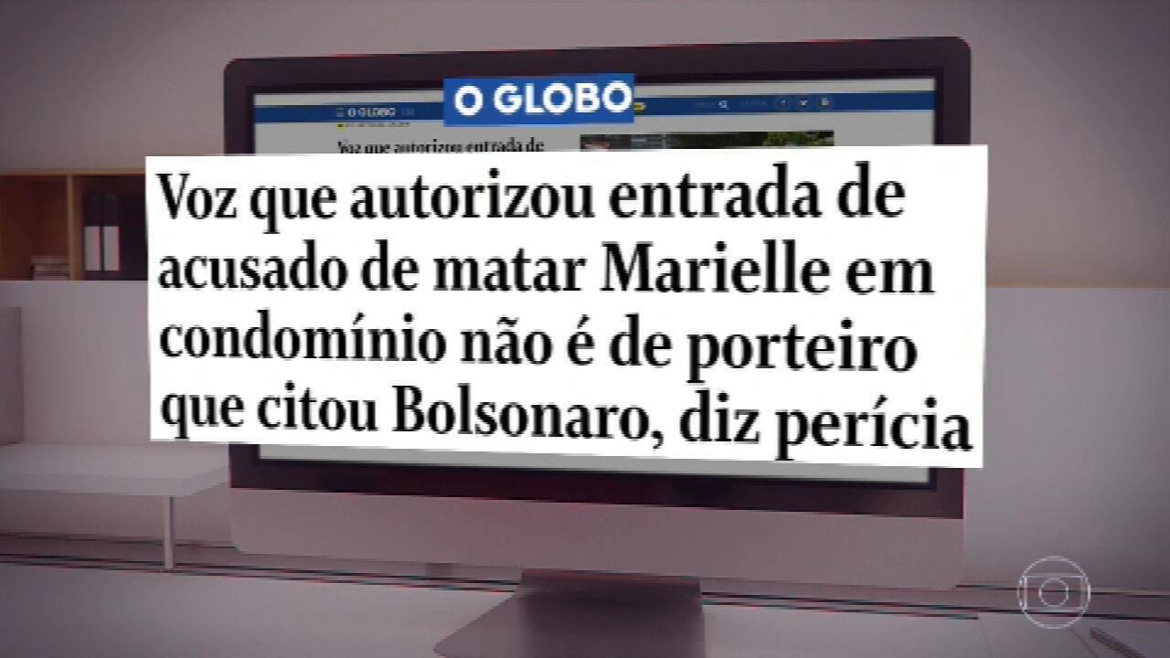 Caso Marielle: voz que liberou acusado não é de porteiro que citou Bolsonaro, aponta laudo