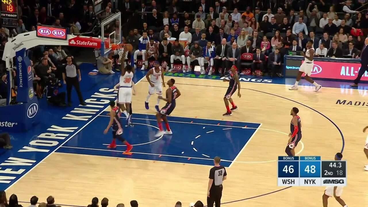 Melhores momentos: New York Knicks 96 x 114 Washington Wizards, pela NBA