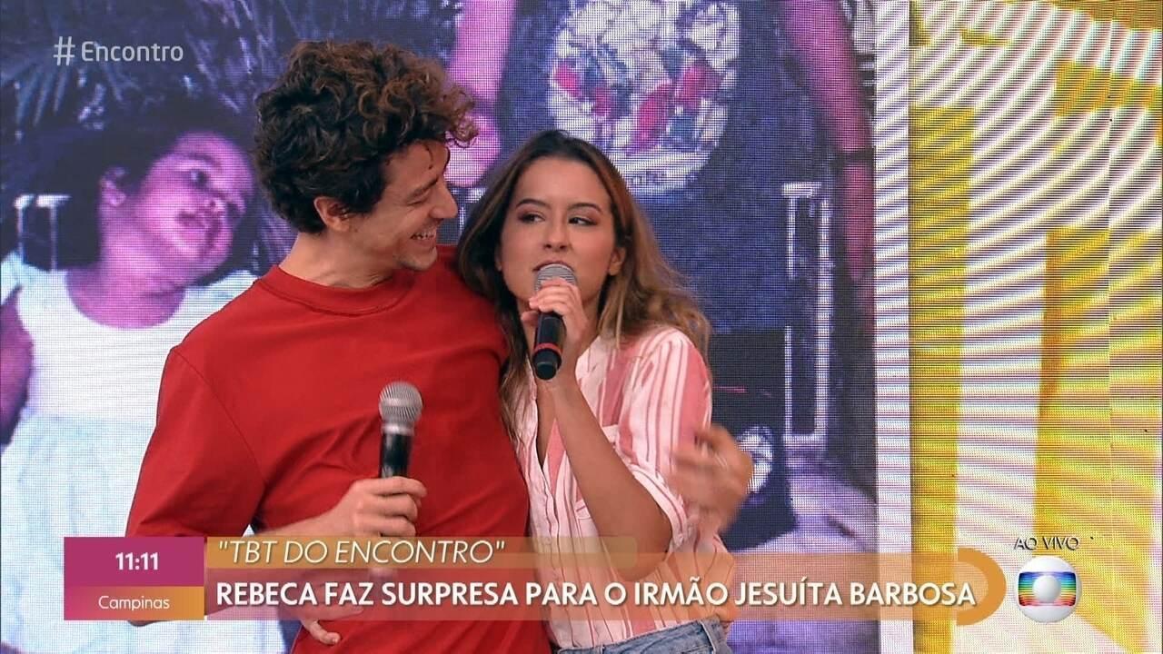 Irmã surpreende Jesuita Barbosa no 'Encontro'