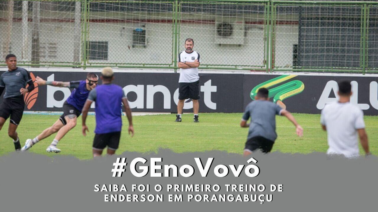 #GEnoVovô: veja como foi o primeiro treino do Ceará com Enderson em Porangabuçu