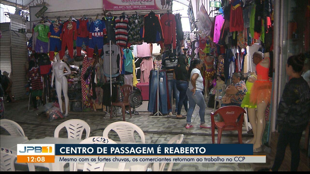 Centro Comercial de Passagem retorna as atividades após incêndio