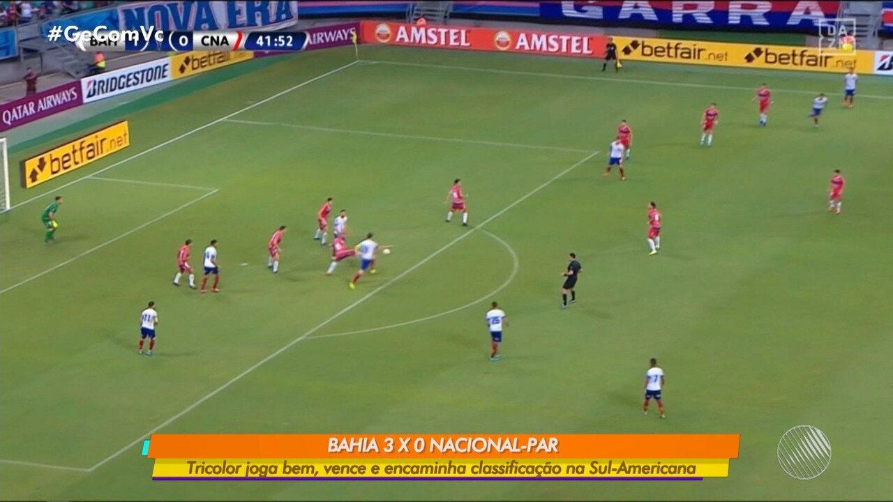 Bahia vence o Nacional por 3 x 0 pela Copa Sul-Americana