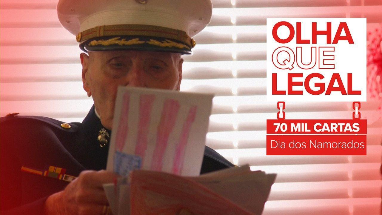Veterano militar de 104 anos recebe 70 mil cartas de Dia dos Namorados nos EUA