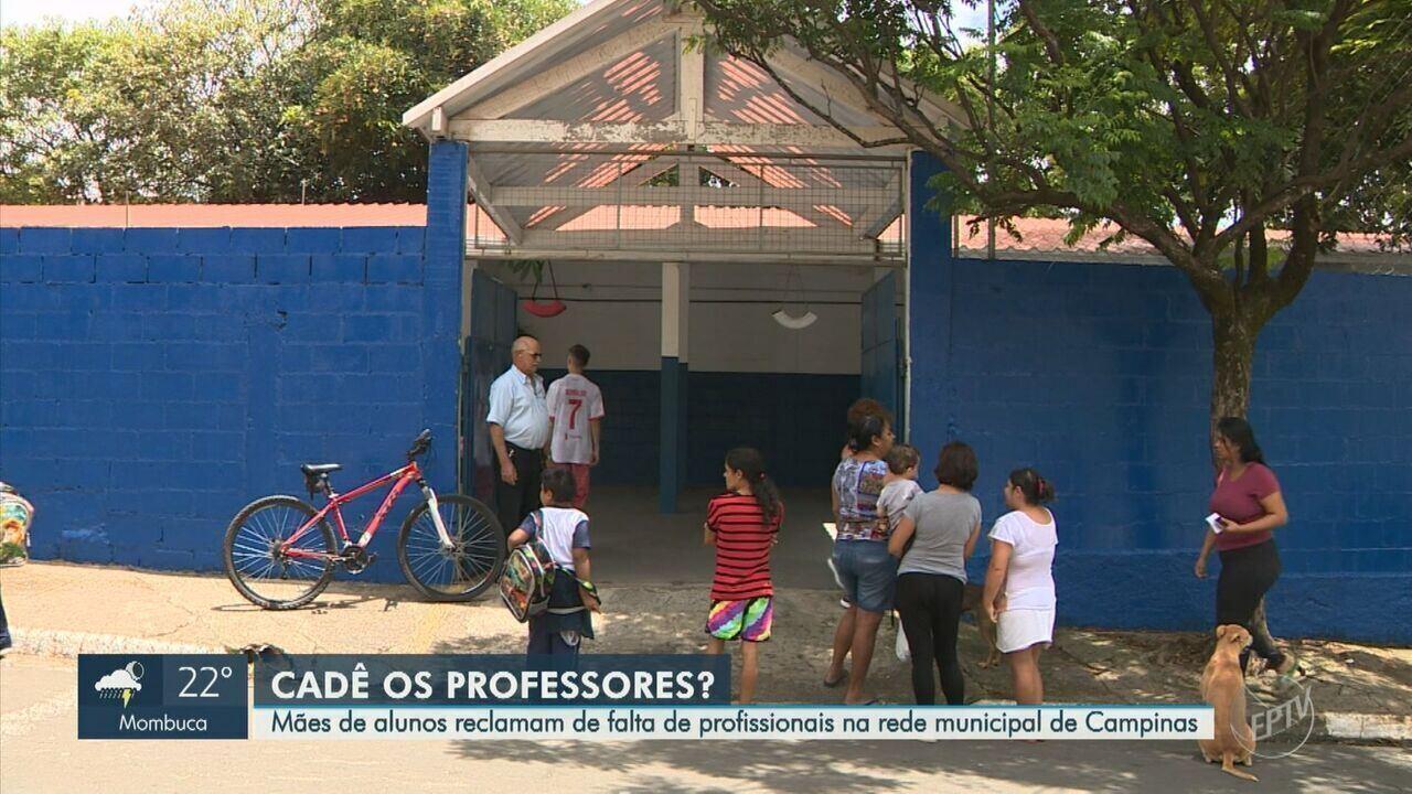 Mães de alunos reclamam de falta de professores na rede municipal de Campinas