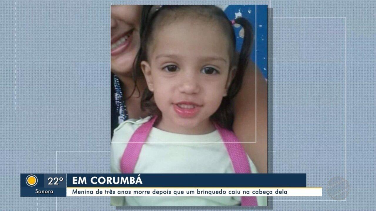 Menina morre após acidente em parquinho de Corumbá