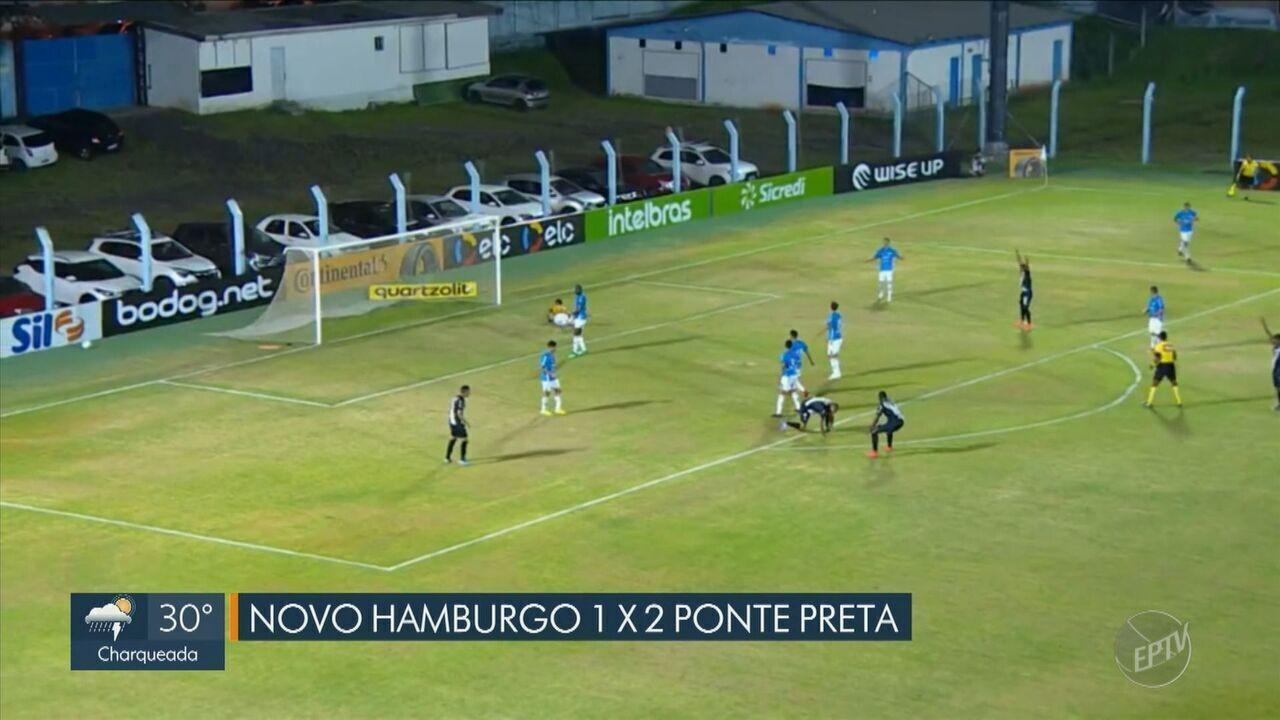 Ponte passa sufoco, mas vence o Novo Hamburgo e avança à 2ª fase da Copa do Brasil