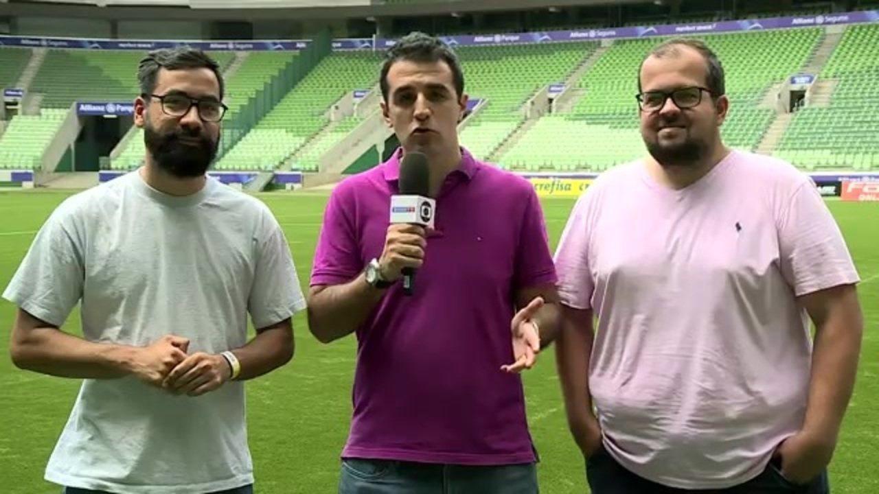 Time, gramado, reforços... Repórteres atualizam noticiário do Palmeiras
