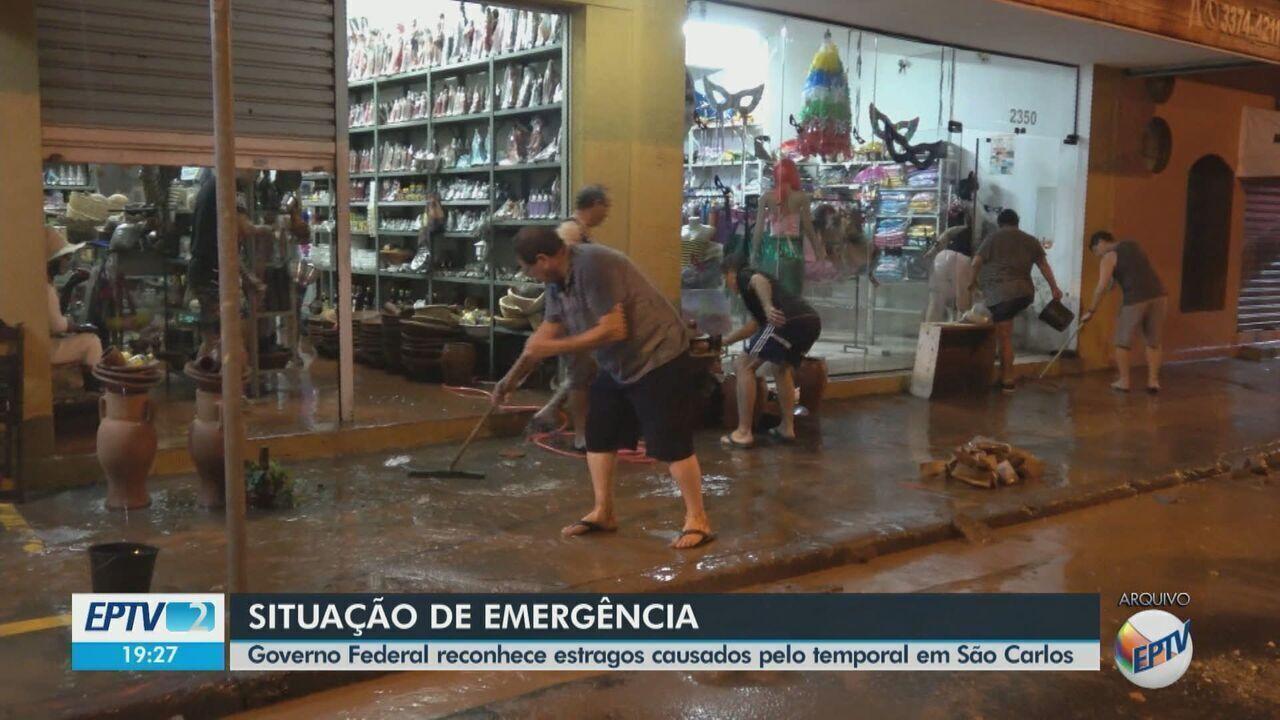 Governo federal reconhece situação de emergência após chuvas em São Carlos