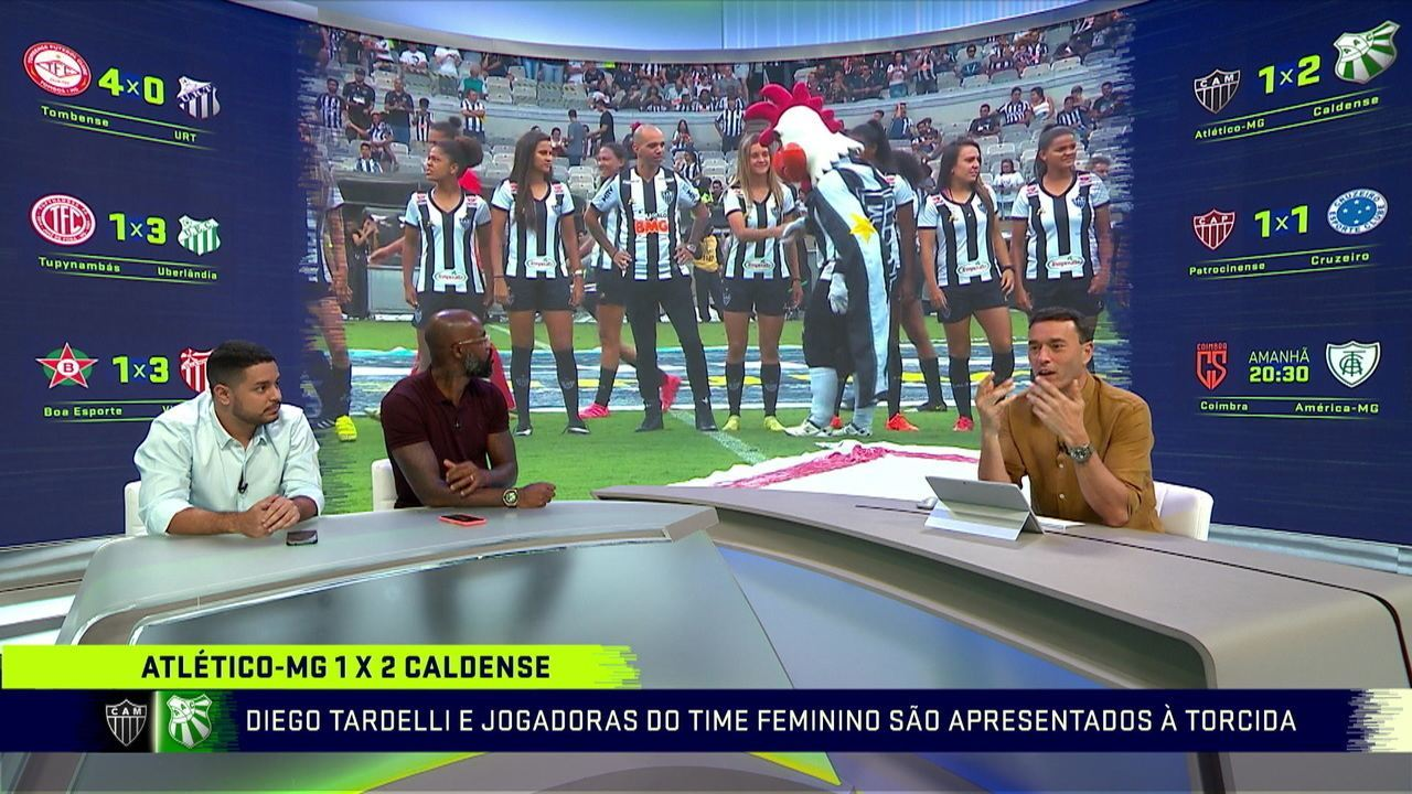 """Rizek critica atitude de mascote do Atlético-MG com jogadora da equipe: """"Vergonha, falta de noção total"""""""