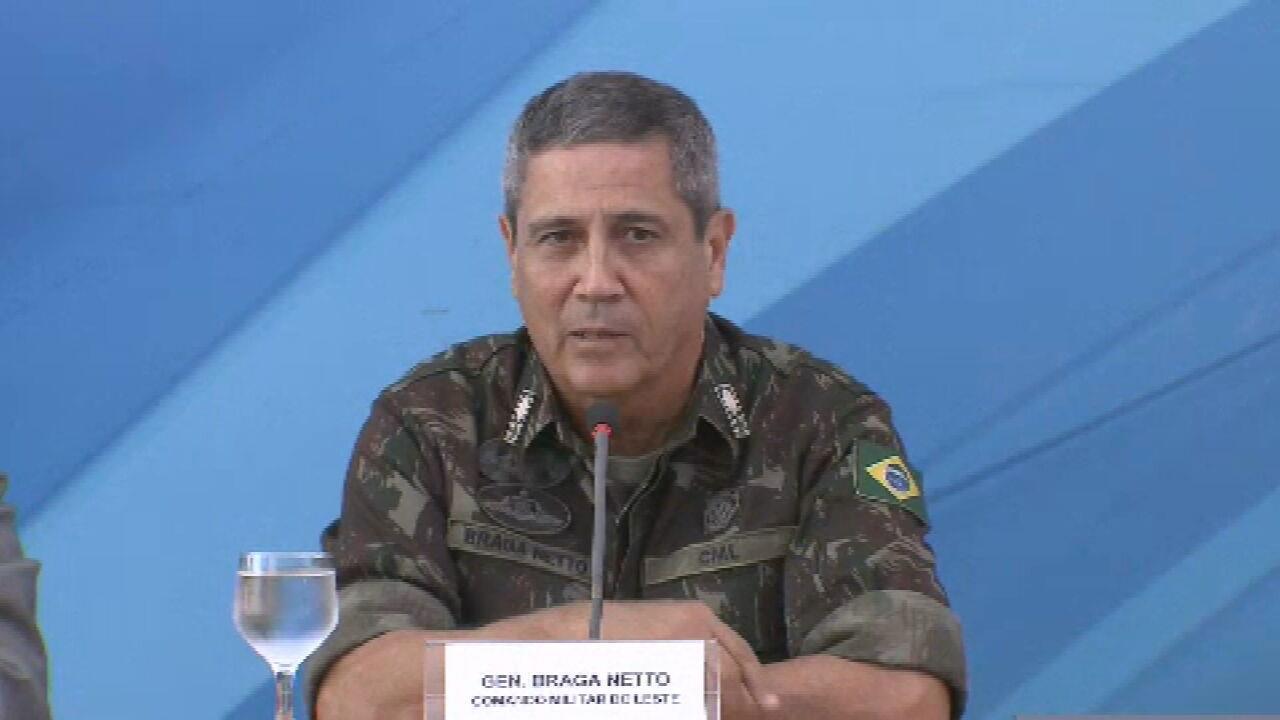 Cerimônia de posse de Braga Netto na Casa Civil será realizada nesta terça-feira (18)