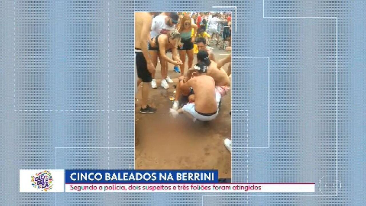 Tiroteio em bloco de carnaval deixa cinco baleados na Zona Sul da capital