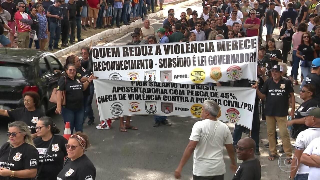 Profissionais da Segurança Pública fazem paralisação na Paraíba