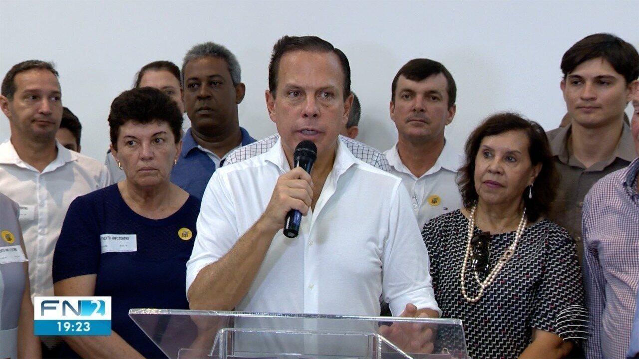 Governador do Estado de São Paulo cumpre agenda no Oeste Paulista