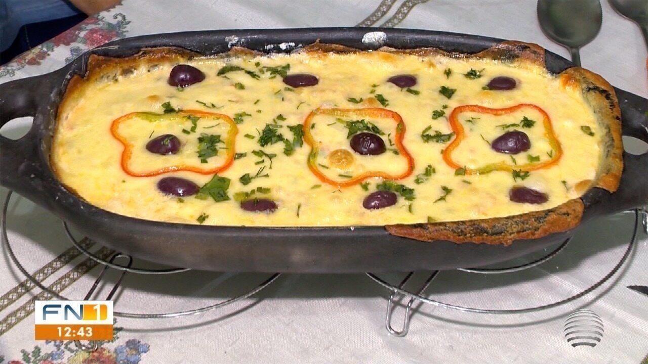 Tilápia na Telha leva fatias de queijo muçarela, requeijão e creme de leite no preparo