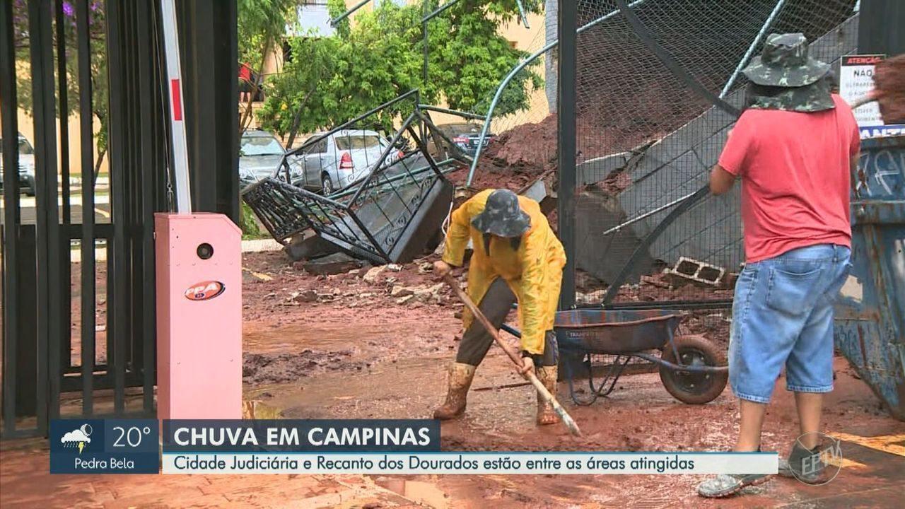 Temporal preocupa moradores de Campinas e alaga pontos da cidade