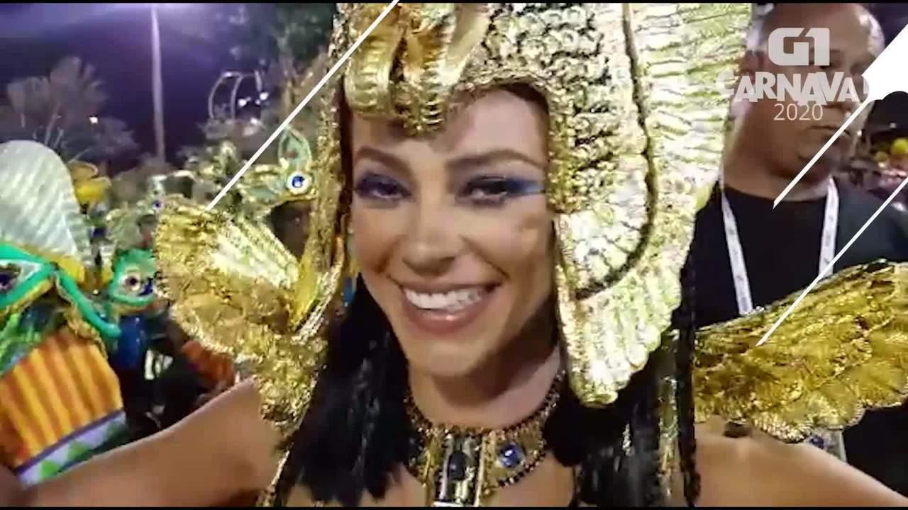 Paolla Oliveira diz que preparação para o desfile é entrar com o coração