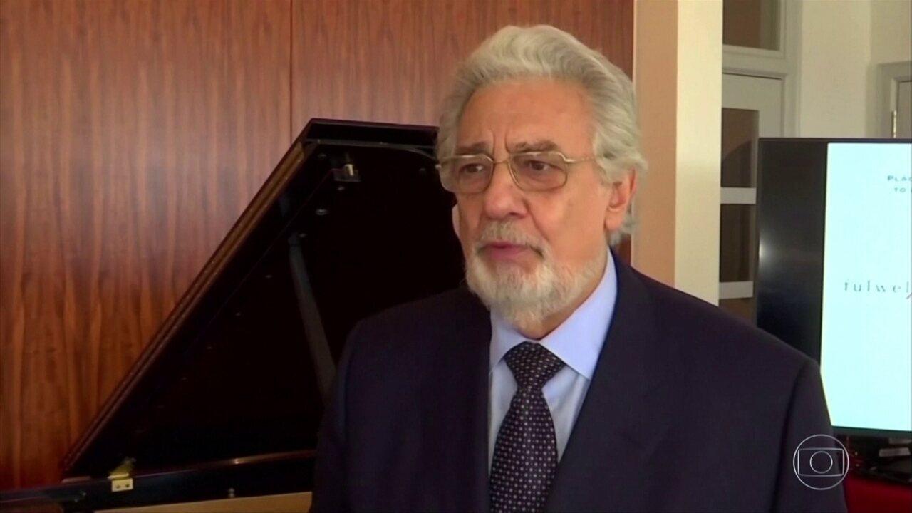 Cantor Plácido Domingo pede desculpas a vítimas de assédio sexual