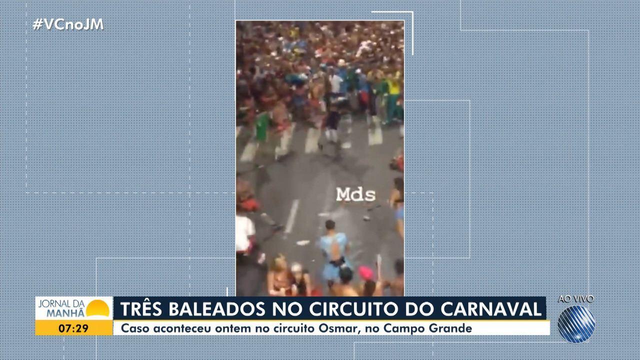 Três pessoas são baleadas nas pernas no circuito Osmar, no Campo Grande