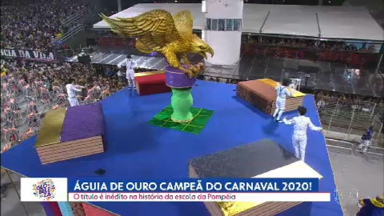 Águia de Ouro é campeã do Grupo Especial do Carnaval de São Paulo