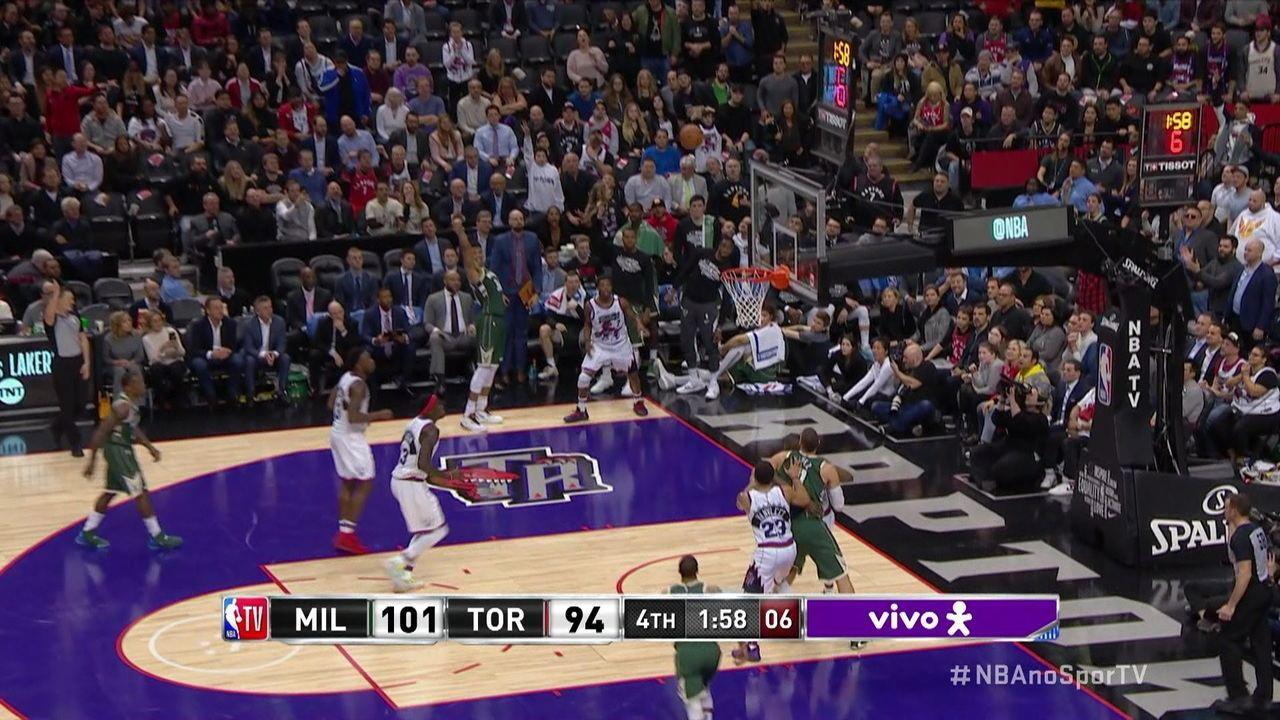 Melhores momentos de Toronto Raptors 97 x 108 Milwaukee Bucks pela NBA