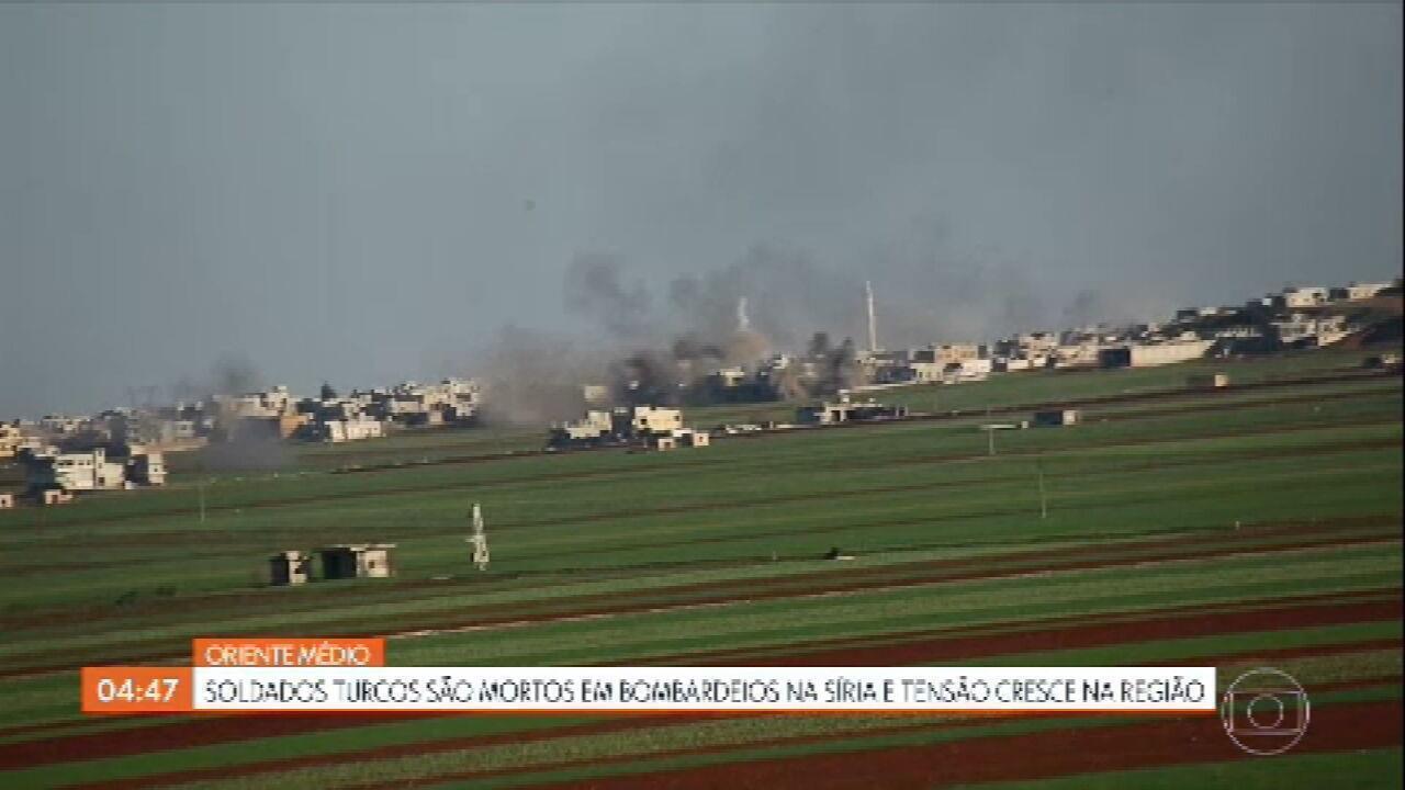 Soldados turcos são mortos em bombardeios na Síria e tensão cresce na região