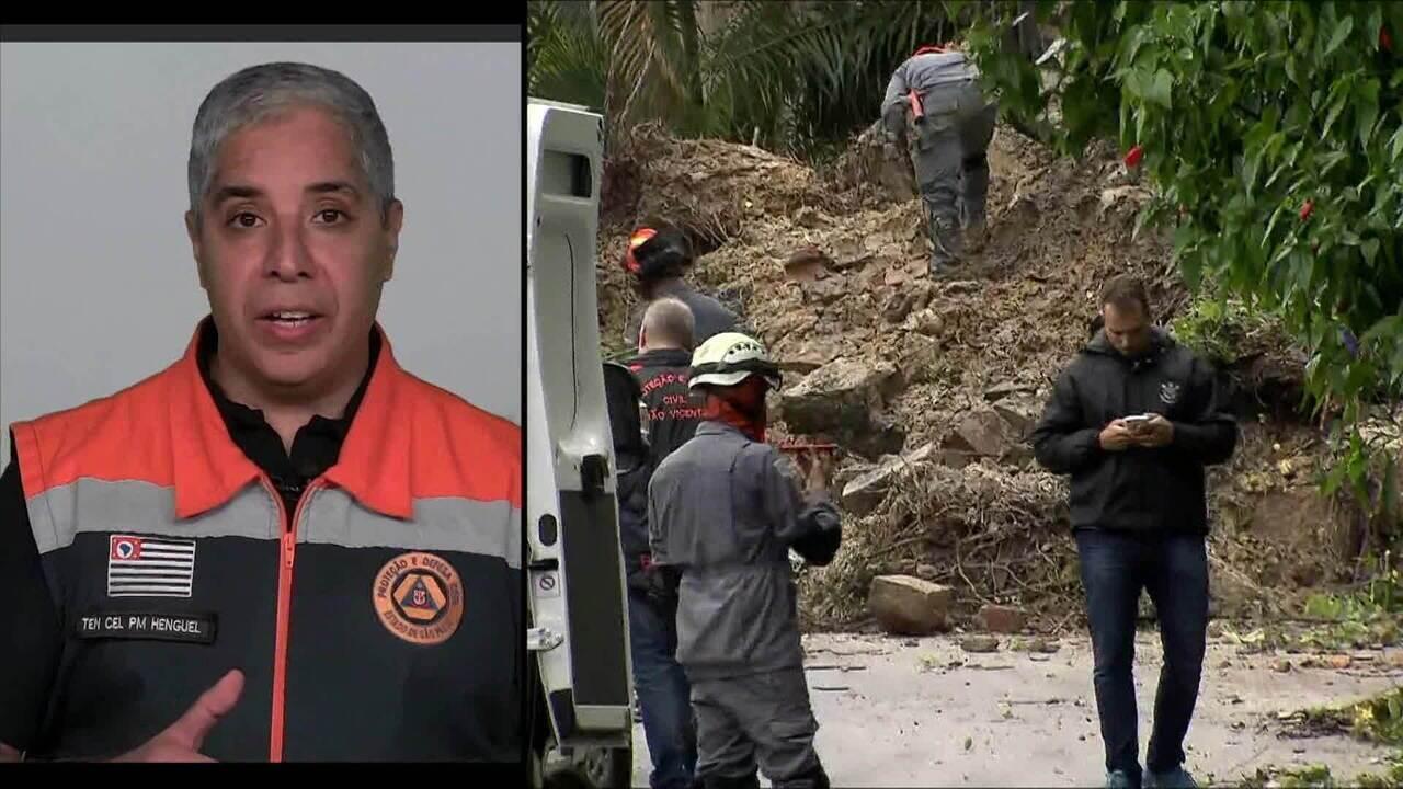 Coordenador de Operações da Defesa Civil de SP comenta temporal na Baixada Santista