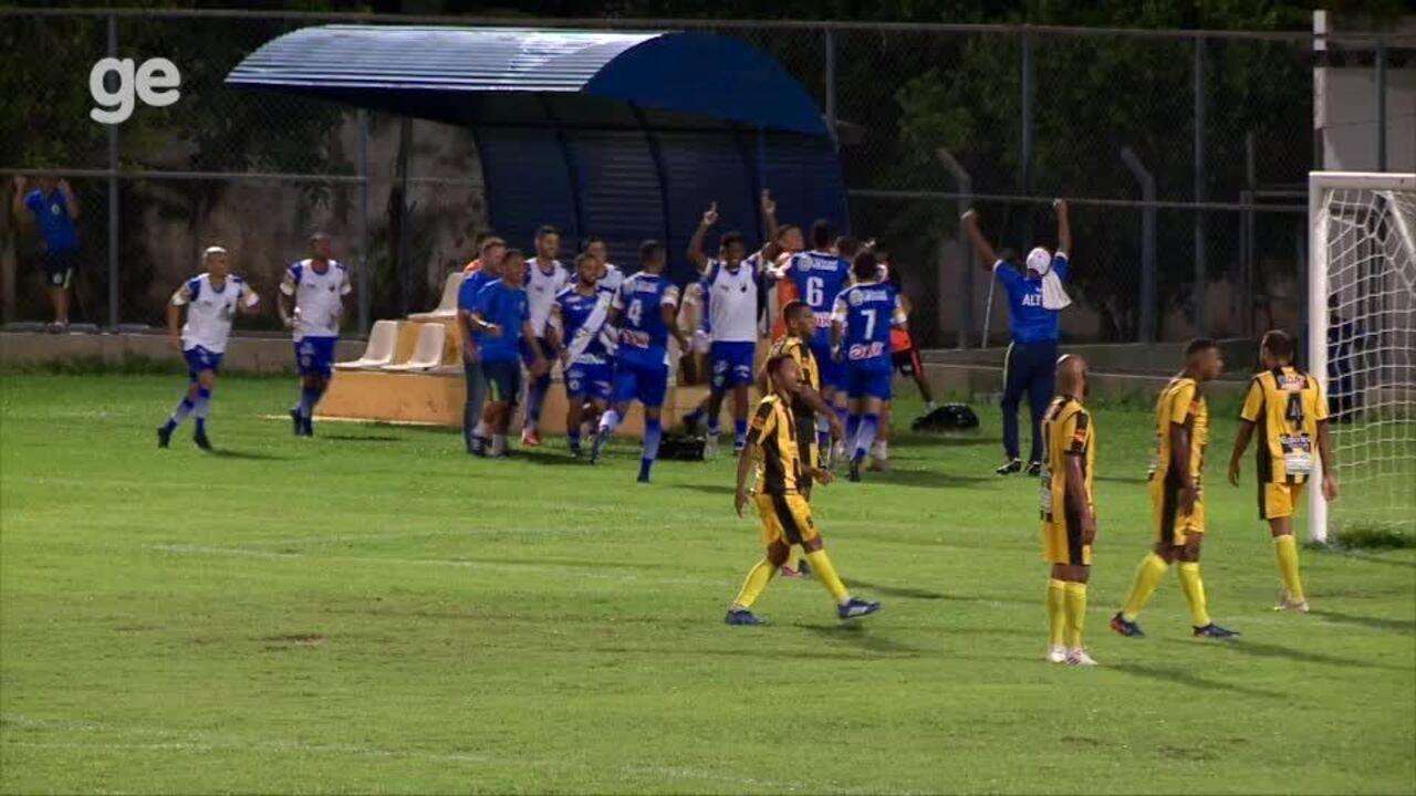 Veja os gols de Altos 4 x 1 Timon, pela 8ª rodada do Campeonato Piauiense 2020