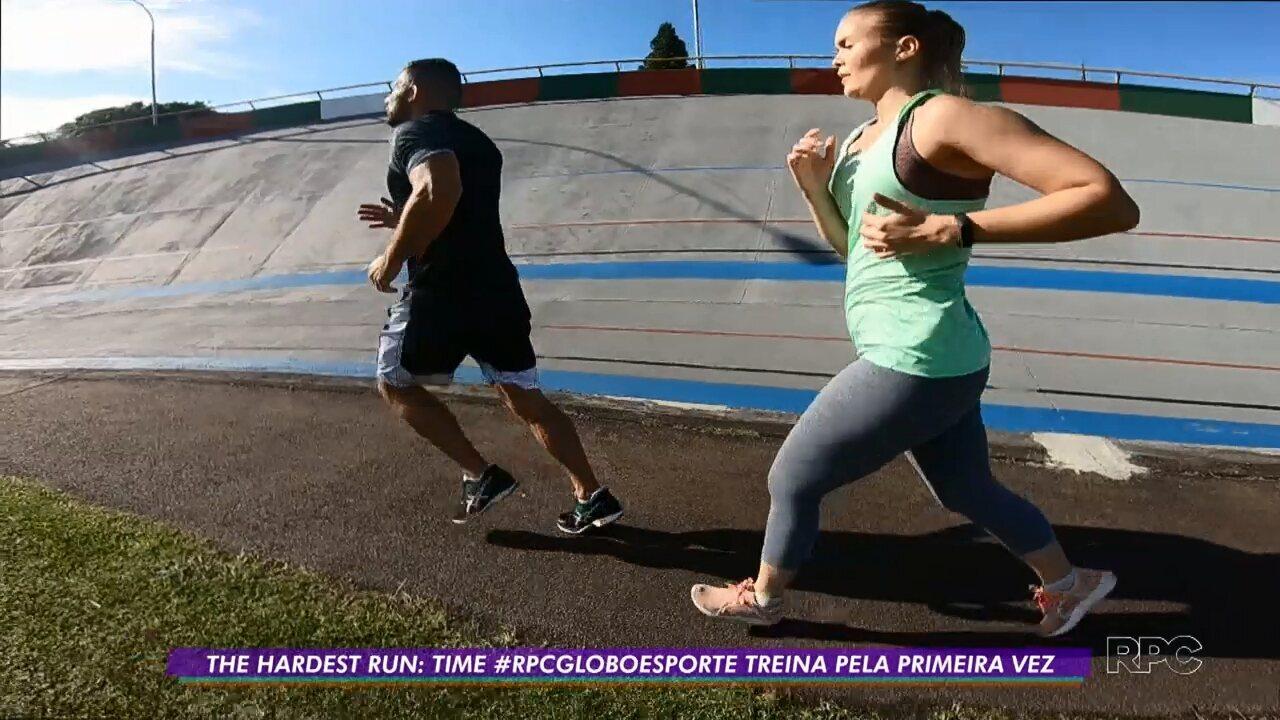 Time Globo Esporte dá largada nos treinos para The Hardest Run