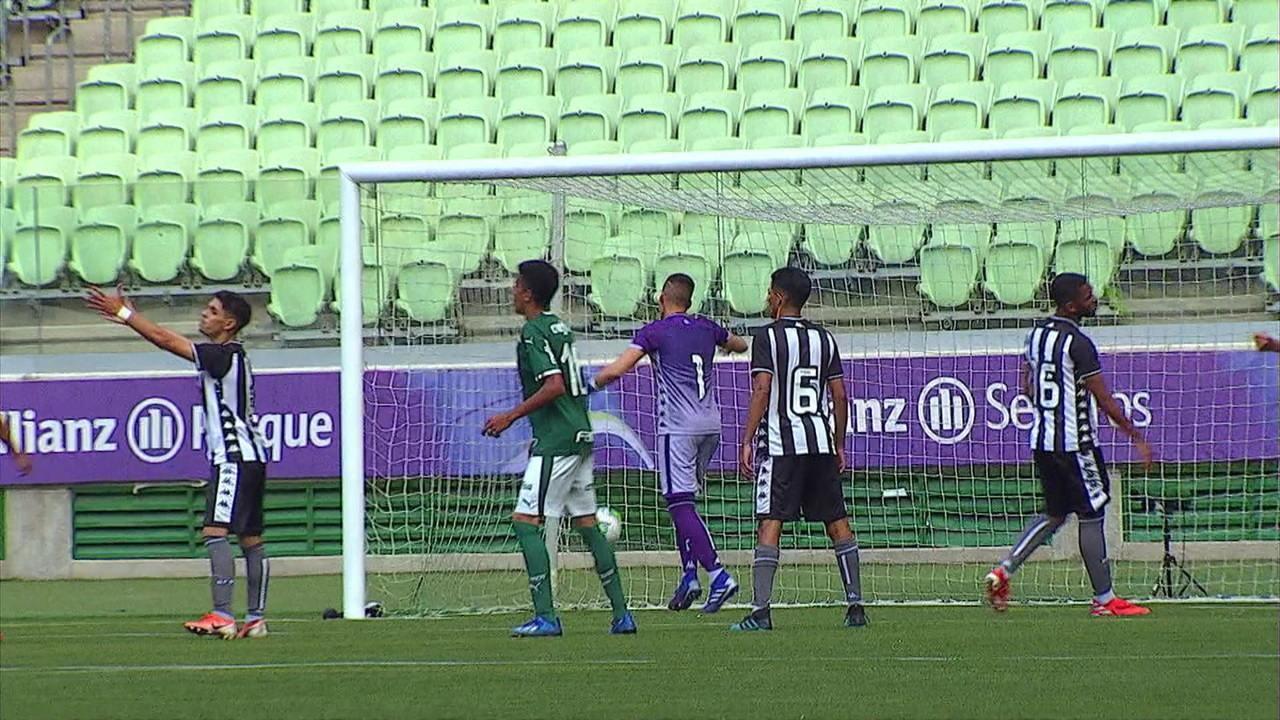 Melhores momentos de Palmeiras 5 x 0 Botafogo pela 1ª rodada do Campeonato Brasileiro Sub-17