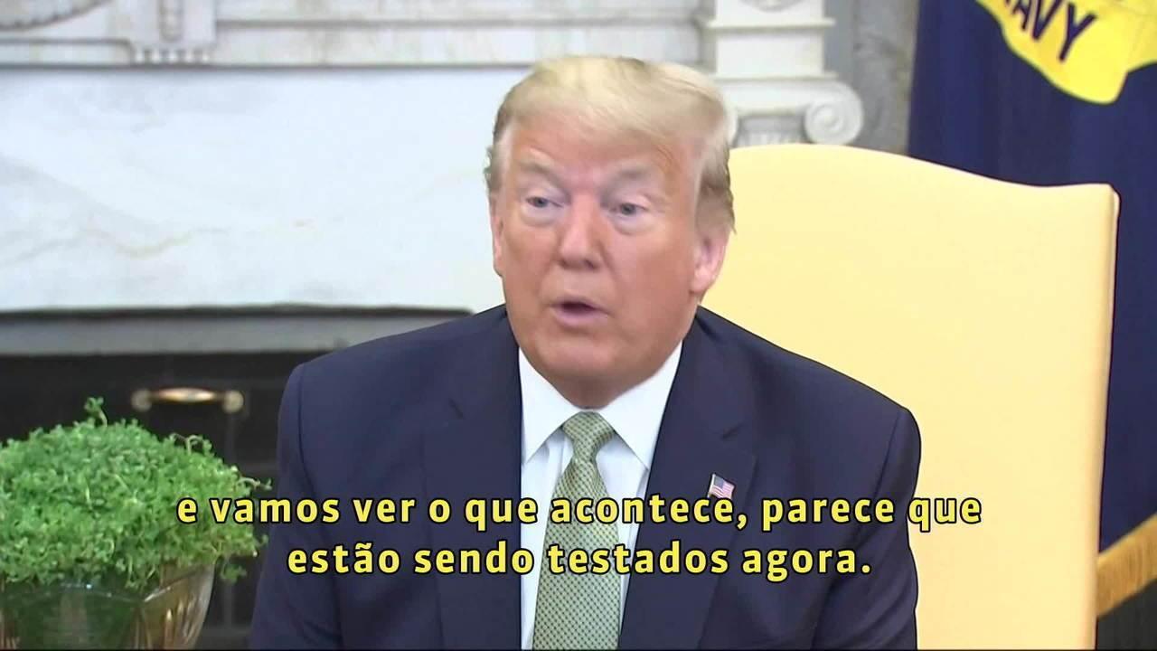'Não estou preocupado', diz Donald Trump sobre secretario brasileiro com coronavírus