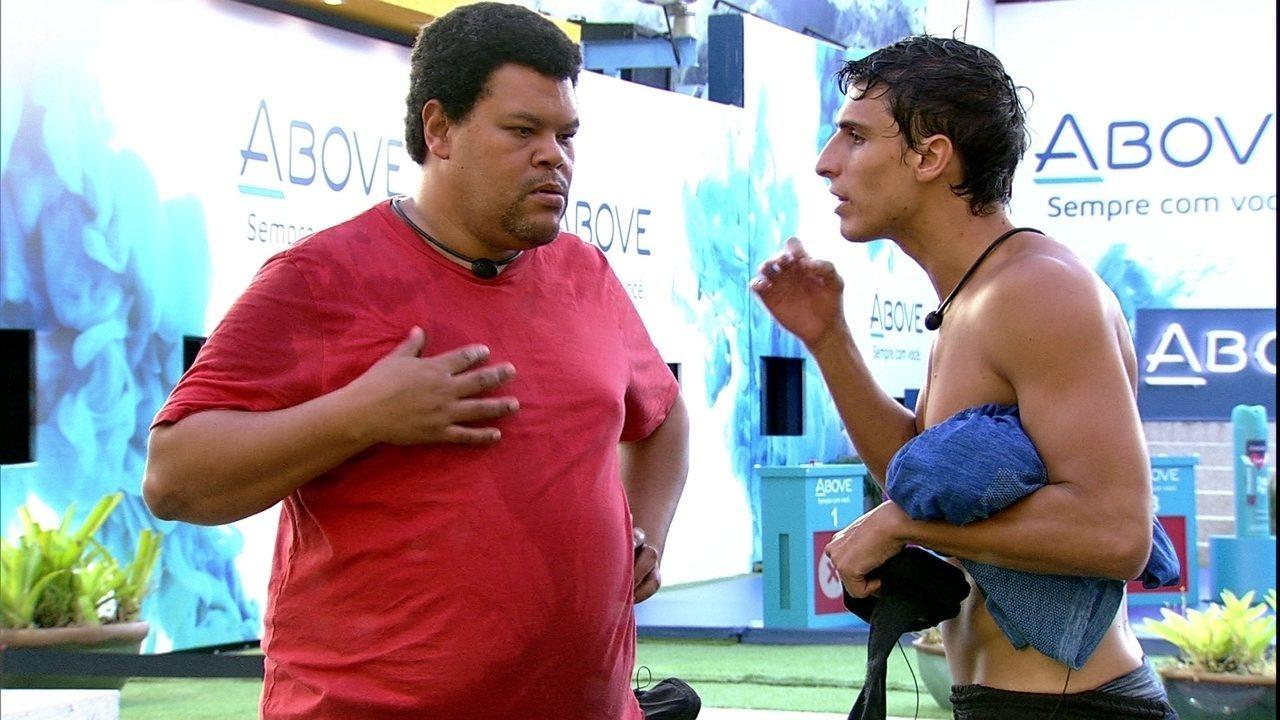 Felipe após Prova do Líder: 'Vai ficar todo mundo na Xepa'
